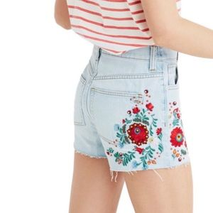 Madewell The Perfect Jean Embroidered Short